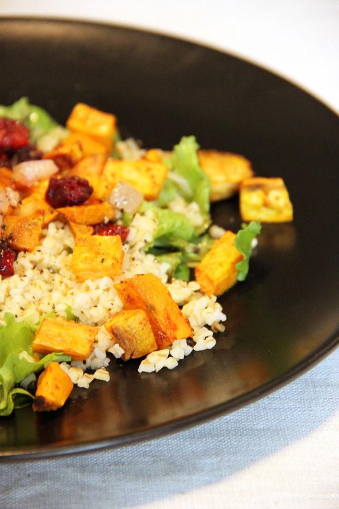 salade-patate-douce-boulgour-cranberries