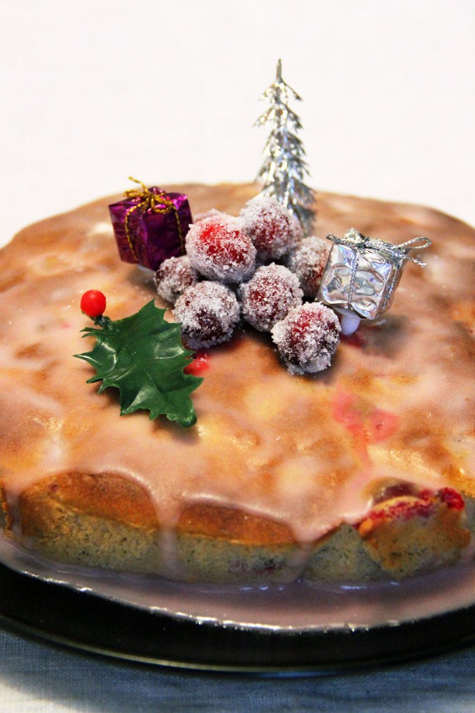 gateau-de-noel-cranberries