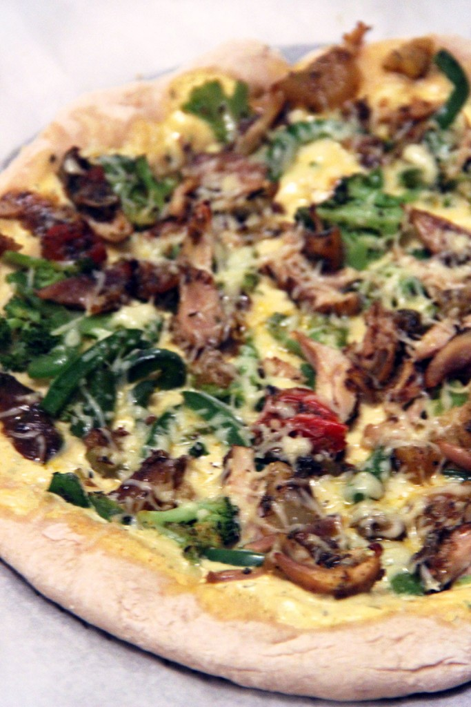 pizza-poulet-curry-