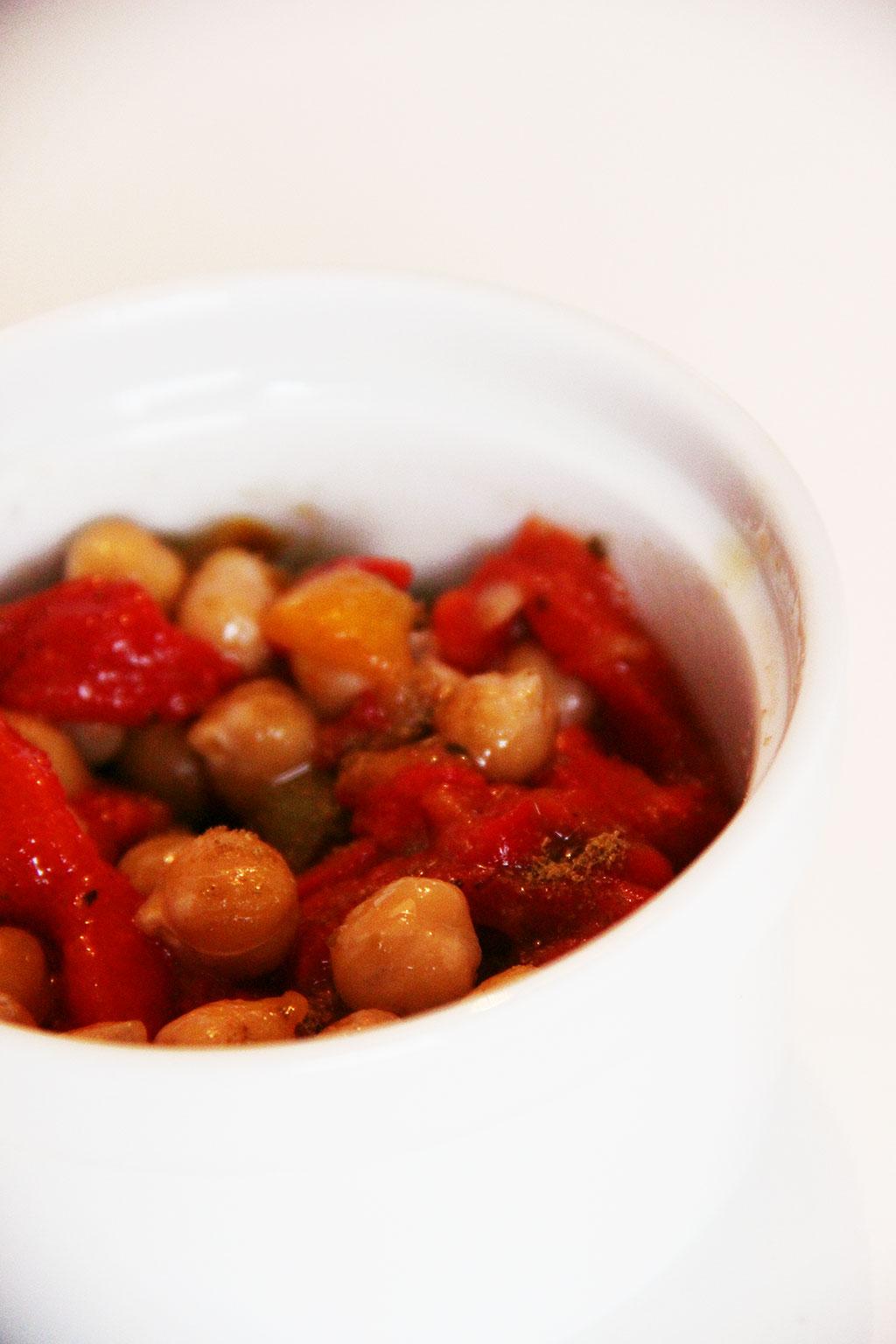 Salade de pois chiches et poivrons not parisienne - Salade de poivron grille ...