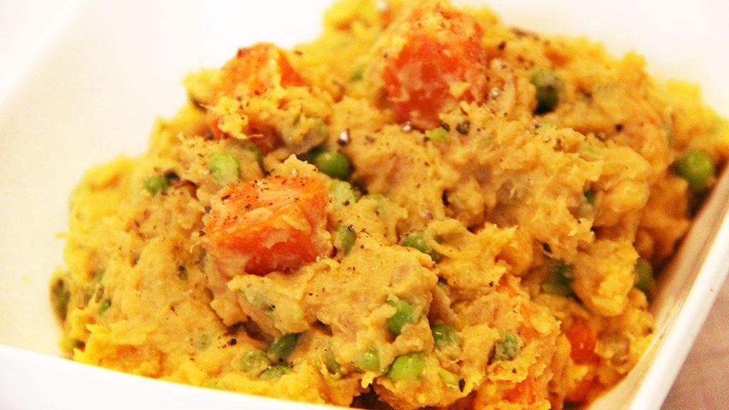 Puree De Patates Douces Carottes Petits Pois Au Curry Not Parisienne