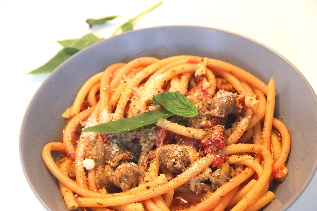 One pot pasta saucisse piment