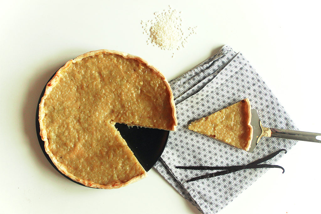 Spécialité belge : tarte au riz