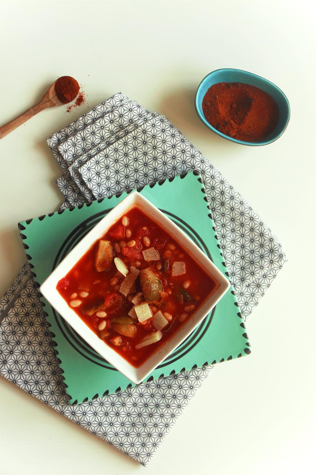 Soupe de haricots et choux de bruxelles fa on loubia not - Comment cuisiner des choux de bruxelles en boite ...