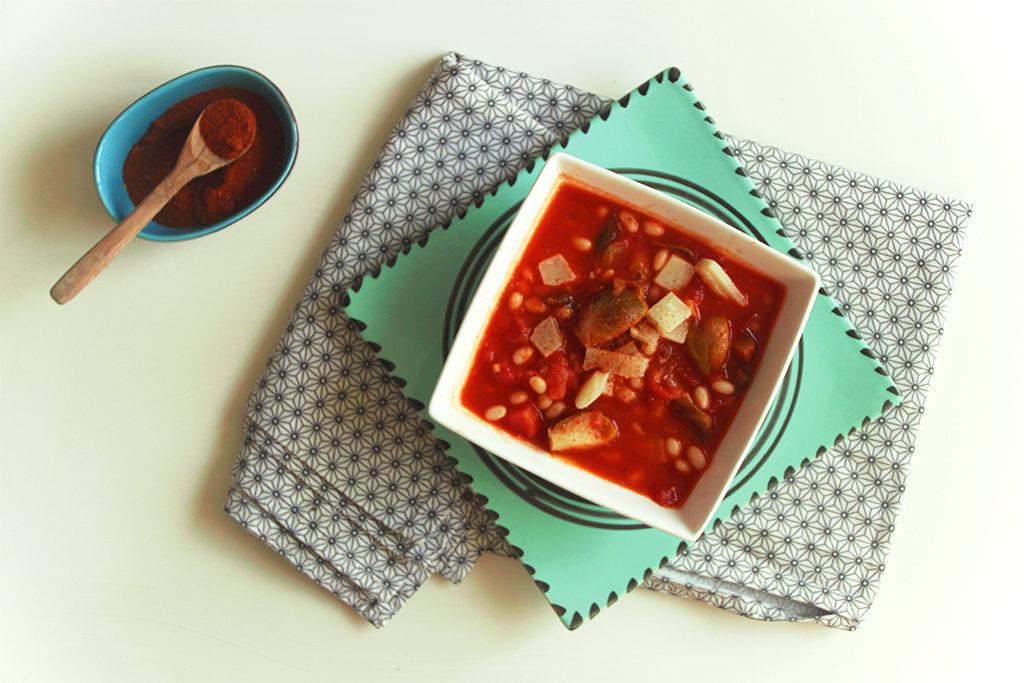 Soupe de haricots et choux de Bruxelles façon loubia