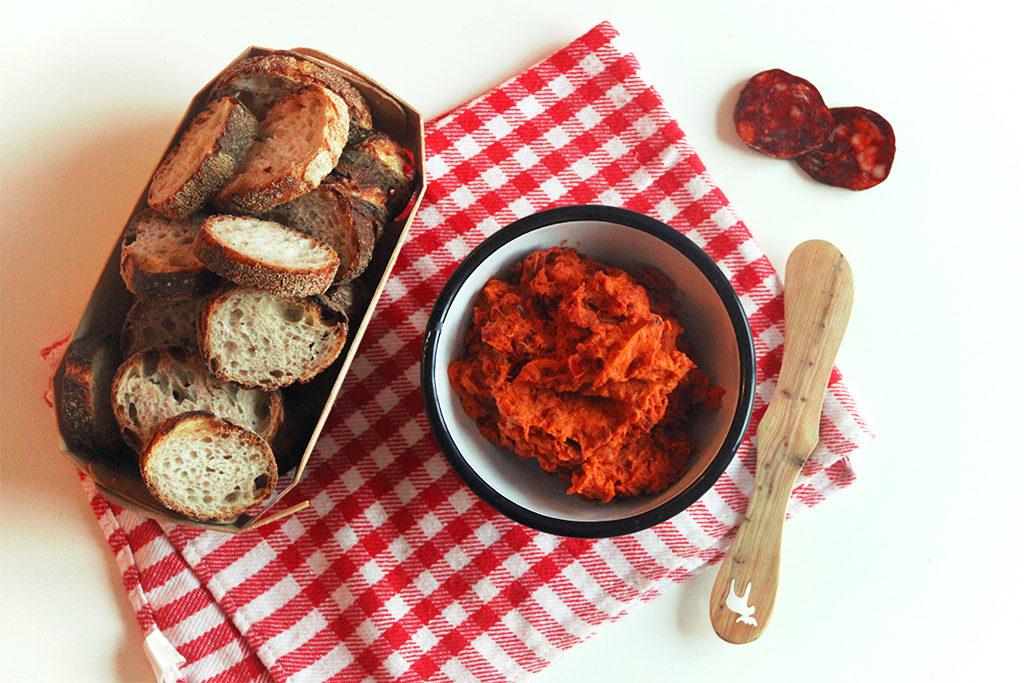 Dip au chorizo et tomate séchée