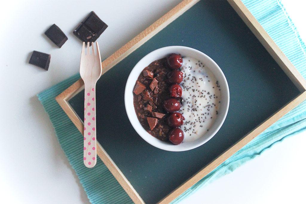 Porridge zoats façon forêt noire