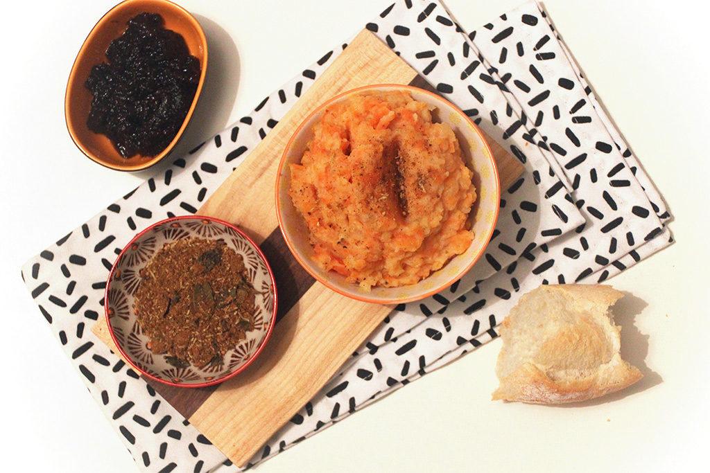 Purée de potiron au miel et épices