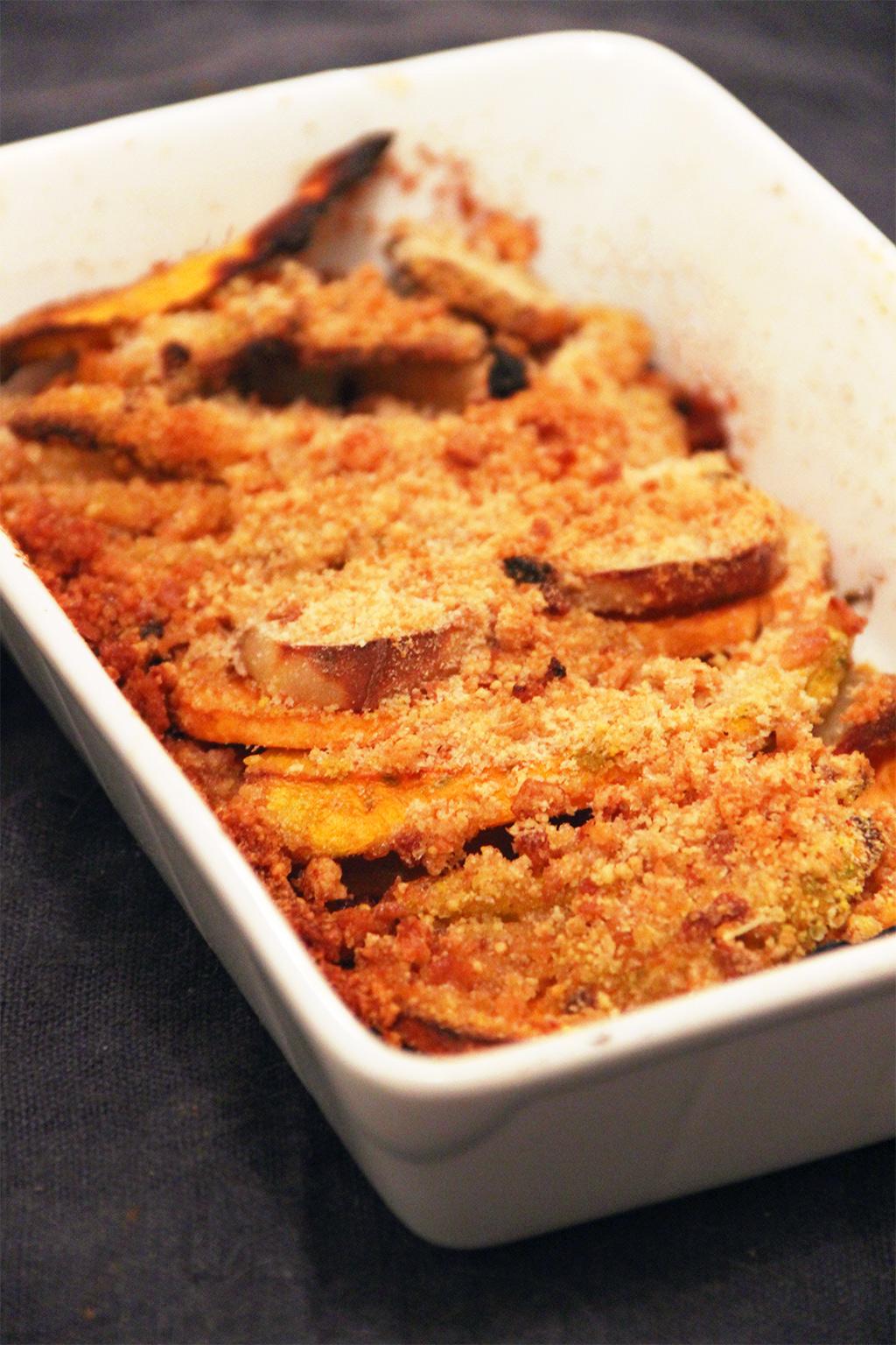 Recette Facile Du Tian Provencal tian de potimarron et patates douces au parmesan