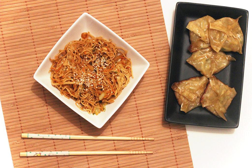 Spécialité de Chine : Chow mein ou nouilles sautées aux légumes