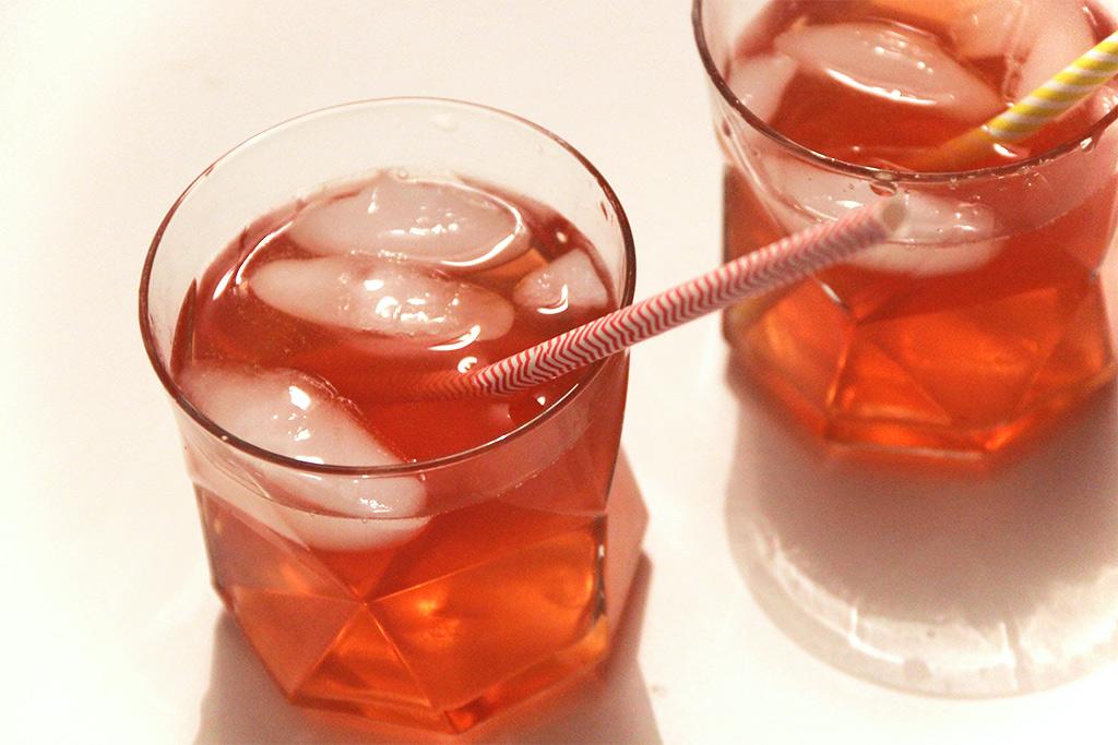 Cocktail rose fraise des bois pamplemousse