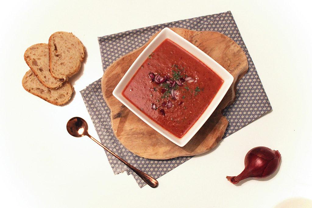 Soupe de haricots rouges épicée