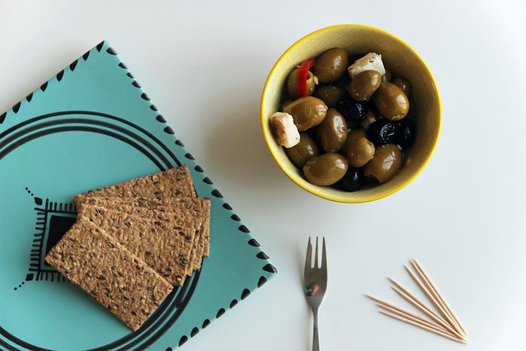 Olives marinées à la feta