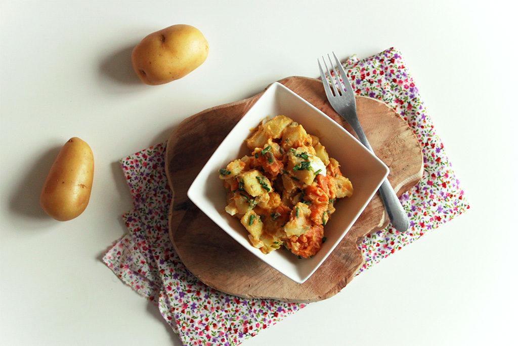 Salade de pommes de terre et patates douces aux salicornes