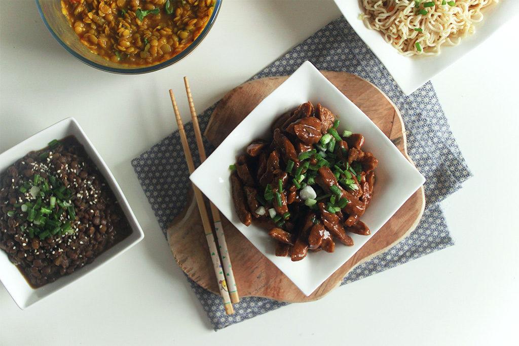 «Faux» bœuf mongolien