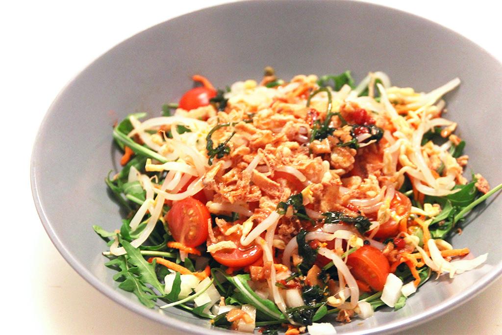 Salade de roquette à l'asiatique