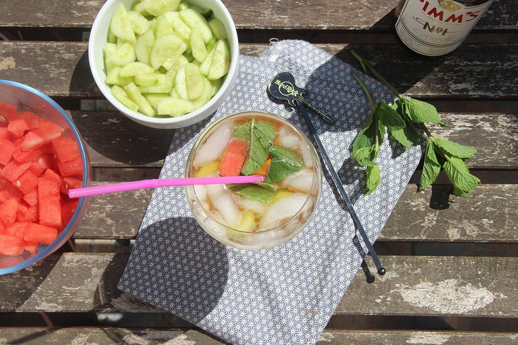 Pimm's concombre et pastèque