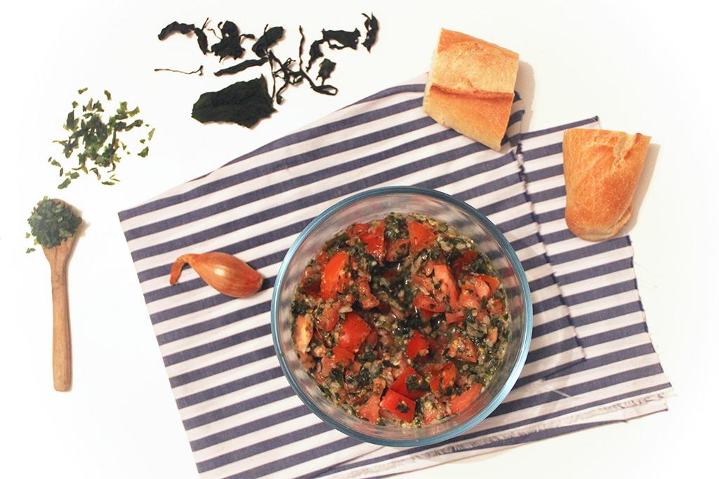 Salade de tomates aux algues