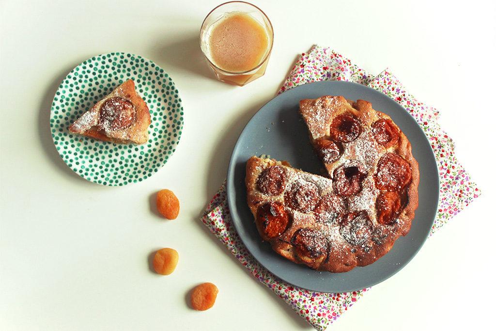 Gâteau aux deux abricots