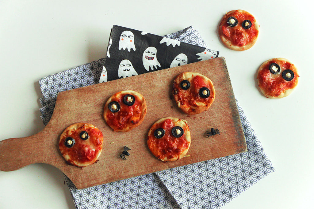 Mini pizzas zombies
