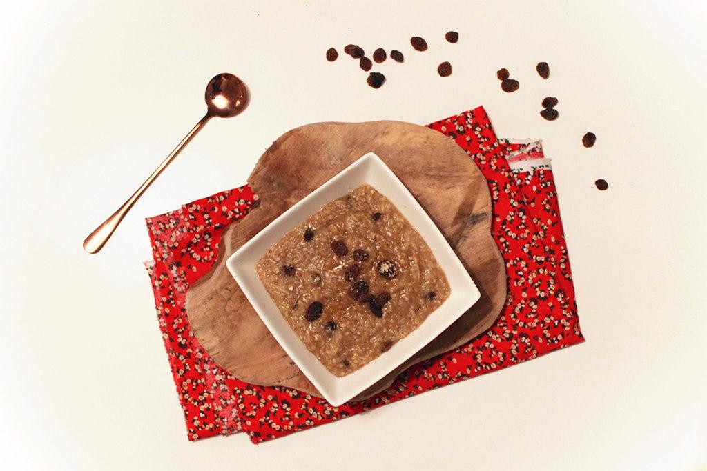 Porridge aux pommes et pain d'épices