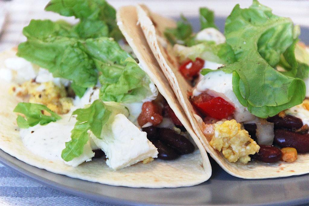 Breakfast burritos végétariens