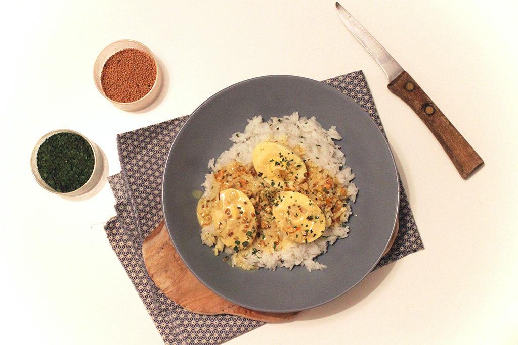 Spécialité du Sri Lanka : Curry aux oeufs
