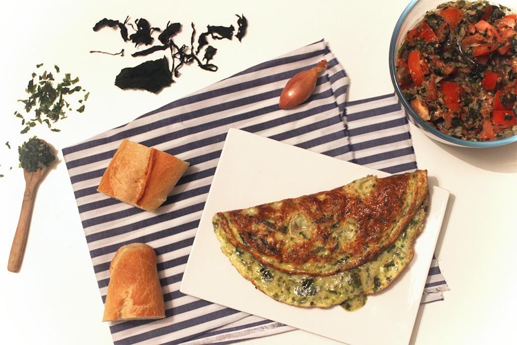 Omelette aux algues