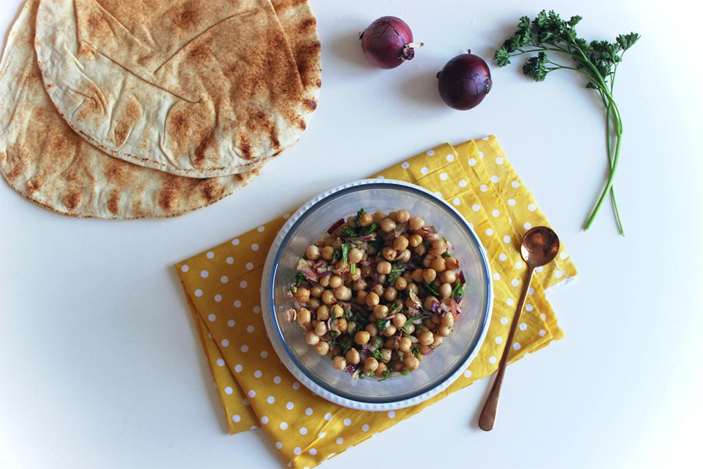 Spécialité du Liban : Salade de pois chiches