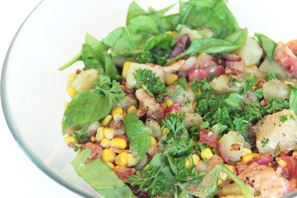 Salade de pommes de terre au bacon